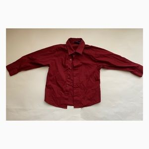 Used Arrow Boys Red Button Down - Size 5